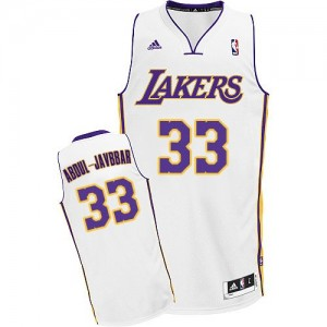 Maillot Swingman Los Angeles Lakers NBA Alternate Blanc - #33 Kareem Abdul-Jabbar - Homme