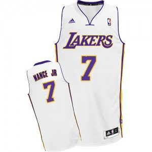 Maillot NBA Los Angeles Lakers #7 Larry Nance Jr. Blanc Adidas Swingman Alternate - Homme