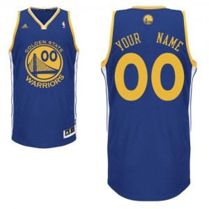 Maillot NBA Bleu royal Swingman Personnalisé Golden State Warriors Road Homme Adidas