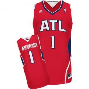 Maillot Adidas Rouge Alternate Swingman Atlanta Hawks - Tracy Mcgrady #1 - Homme
