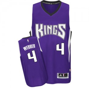 Sacramento Kings Chris Webber #4 Road Authentic Maillot d'équipe de NBA - Violet pour Homme