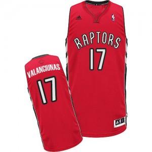 Toronto Raptors Jonas Valanciunas #17 Road Swingman Maillot d'équipe de NBA - Rouge pour Homme