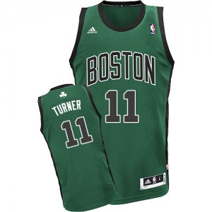 Boston Celtics Evan Turner #11 Alternate Swingman Maillot d'équipe de NBA - Vert (No. noir) pour Homme