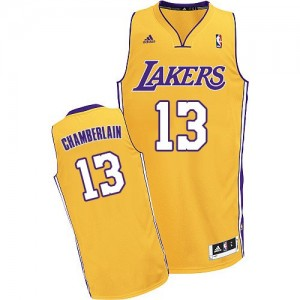 Maillot Adidas Or Home Swingman Los Angeles Lakers - Wilt Chamberlain #13 - Homme