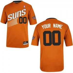 Maillot NBA Phoenix Suns Personnalisé Authentic Orange Adidas Alternate - Homme