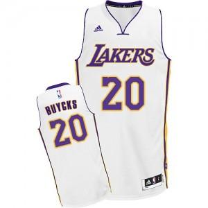Los Angeles Lakers #20 Adidas Alternate Blanc Swingman Maillot d'équipe de NBA en soldes - Dwight Buycks pour Homme