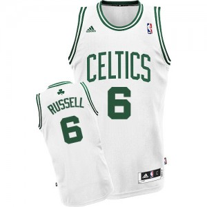 Maillot Adidas Blanc Home Swingman Boston Celtics - Bill Russell #6 - Homme