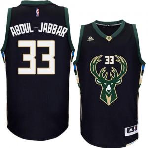 Maillot NBA Milwaukee Bucks #33 Kareem Abdul-Jabbar Noir Adidas Swingman Alternate - Homme