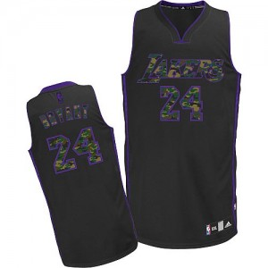 Maillot Adidas Camo noir Fashion Authentic Los Angeles Lakers - Kobe Bryant #24 - Homme