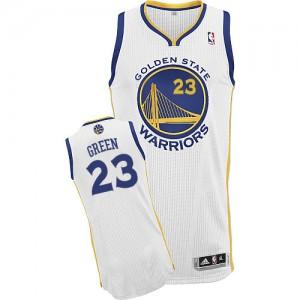 Golden State Warriors Draymond Green #23 Home Authentic Maillot d'équipe de NBA - Blanc pour Homme