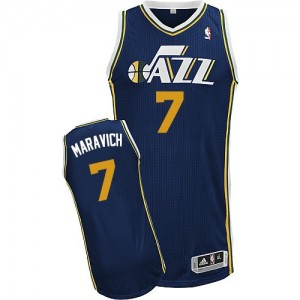 Maillot Adidas Bleu marin Road Authentic Utah Jazz - Pete Maravich #7 - Homme