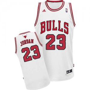 Maillot NBA Blanc Michael Jordan #23 Chicago Bulls Home Swingman Enfants Adidas