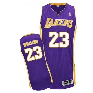 Maillot NBA Los Angeles Lakers #23 Louis Williams Violet Adidas Authentic Road - Homme