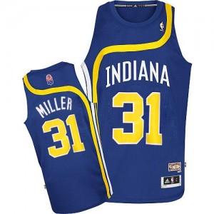 Indiana Pacers #31 Adidas ABA Hardwood Classic Bleu Authentic Maillot d'équipe de NBA pas cher - Reggie Miller pour Homme
