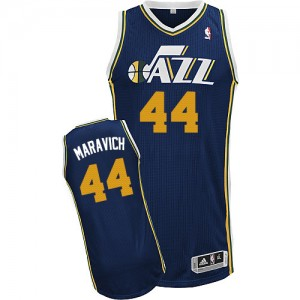 Maillot Authentic Utah Jazz NBA Road Bleu marin - #44 Pete Maravich - Homme