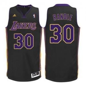 Maillot Authentic Los Angeles Lakers NBA Noir Violet NO. - #30 Julius Randle - Homme