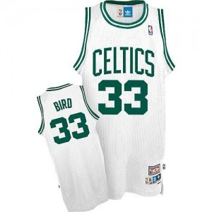 Maillot NBA Blanc Larry Bird #33 Boston Celtics Throwback Swingman Enfants Adidas