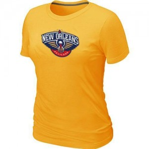 T-Shirts NBA New Orleans Pelicans Big & Tall Jaune - Femme