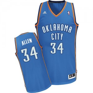 Oklahoma City Thunder #34 Adidas Road Bleu royal Swingman Maillot d'équipe de NBA achats en ligne - Ray Allen pour Homme