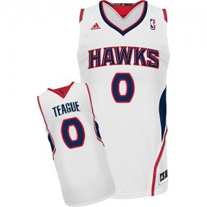 Atlanta Hawks #0 Adidas Home Blanc Swingman Maillot d'équipe de NBA sortie magasin - Jeff Teague pour Homme