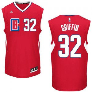 Maillot Adidas Rouge Road Swingman Los Angeles Clippers - Blake Griffin #32 - Homme