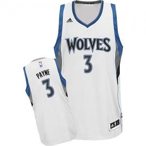 Minnesota Timberwolves #3 Adidas Home Blanc Swingman Maillot d'équipe de NBA Prix d'usine - Adreian Payne pour Homme