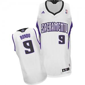Maillot NBA Blanc Rajon Rondo #9 Sacramento Kings Home Swingman Homme Adidas