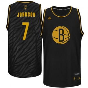 Maillot Authentic Brooklyn Nets NBA Precious Metals Fashion Noir - #7 Joe Johnson - Homme