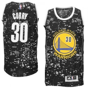 Maillot NBA Swingman Stephen Curry #30 Golden State Warriors City Light Noir - Homme