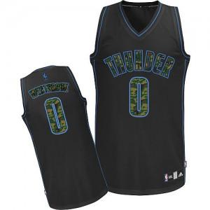 Oklahoma City Thunder #0 Adidas Fashion Camo noir Authentic Maillot d'équipe de NBA vente en ligne - Russell Westbrook pour Homme