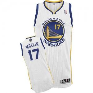 Golden State Warriors Chris Mullin #17 Home Authentic Maillot d'équipe de NBA - Blanc pour Homme