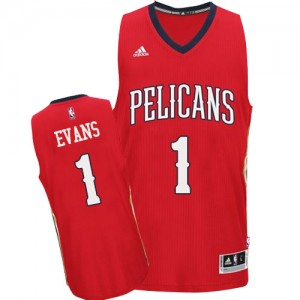 New Orleans Pelicans Tyreke Evans #1 Alternate Authentic Maillot d'équipe de NBA - Rouge pour Homme