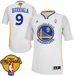 Maillot Swingman Golden State Warriors NBA Alternate 2015 The Finals Patch Blanc - #9 Andre Iguodala - Homme
