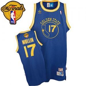 Golden State Warriors Chris Mullin #17 Throwback 2015 The Finals Patch Swingman Maillot d'équipe de NBA - Bleu royal pour Homme