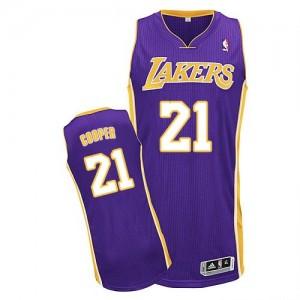 Los Angeles Lakers #21 Adidas Road Violet Authentic Maillot d'équipe de NBA en ligne pas chers - Michael Cooper pour Homme