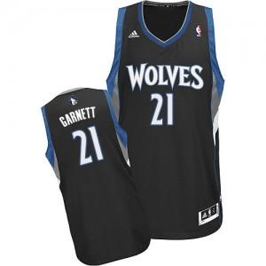 Maillot NBA Minnesota Timberwolves #21 Kevin Garnett Noir Adidas Swingman Alternate - Homme