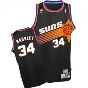 Maillot NBA Phoenix Suns #34 Charles Barkley Noir Adidas Swingman Throwback - Homme