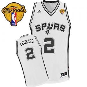 Maillot Adidas Blanc Home Finals Patch Swingman San Antonio Spurs - Kawhi Leonard #2 - Homme