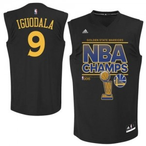 Maillot Swingman Golden State Warriors NBA 2015 NBA Finals Champions Noir - #9 Andre Iguodala - Homme