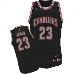 Maillot Adidas Noir Rhythm Fashion Authentic Cleveland Cavaliers - LeBron James #23 - Homme