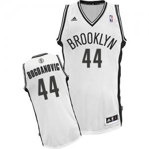 Brooklyn Nets #44 Adidas Home Blanc Swingman Maillot d'équipe de NBA Peu co?teux - Bojan Bogdanovic pour Homme