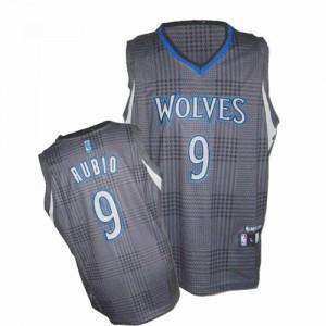 Minnesota Timberwolves #9 Adidas Rhythm Fashion Noir Authentic Maillot d'équipe de NBA Promotions - Ricky Rubio pour Homme