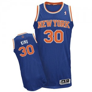 Maillot NBA Authentic Bernard King #30 New York Knicks Road Bleu royal - Homme