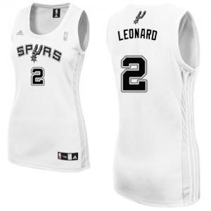 San Antonio Spurs Kawhi Leonard #2 Home Authentic Maillot d'équipe de NBA - Blanc pour Femme