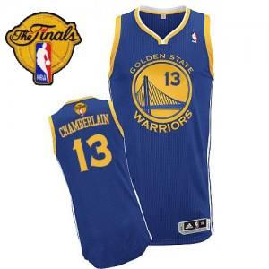 Golden State Warriors #13 Adidas Road 2015 The Finals Patch Bleu royal Authentic Maillot d'équipe de NBA en ligne pas chers - Wilt Chamberlain pour Homme