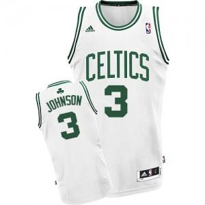 Boston Celtics Dennis Johnson #3 Home Swingman Maillot d'équipe de NBA - Blanc pour Homme