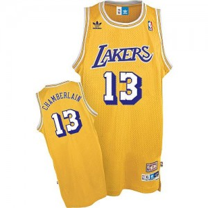 Maillot Adidas Or Throwback Swingman Los Angeles Lakers - Wilt Chamberlain #13 - Homme