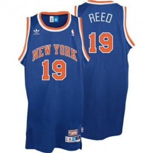 Maillot Adidas Bleu royal Throwback Swingman New York Knicks - Willis Reed #19 - Homme