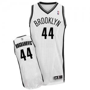 Brooklyn Nets #44 Adidas Home Blanc Authentic Maillot d'équipe de NBA sortie magasin - Bojan Bogdanovic pour Homme