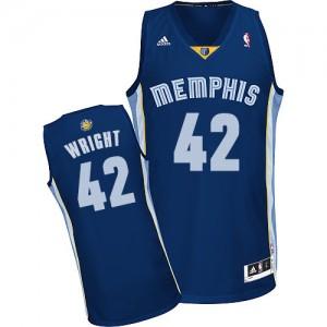 Memphis Grizzlies Lorenzen Wright #42 Road Swingman Maillot d'équipe de NBA - Bleu marin pour Homme